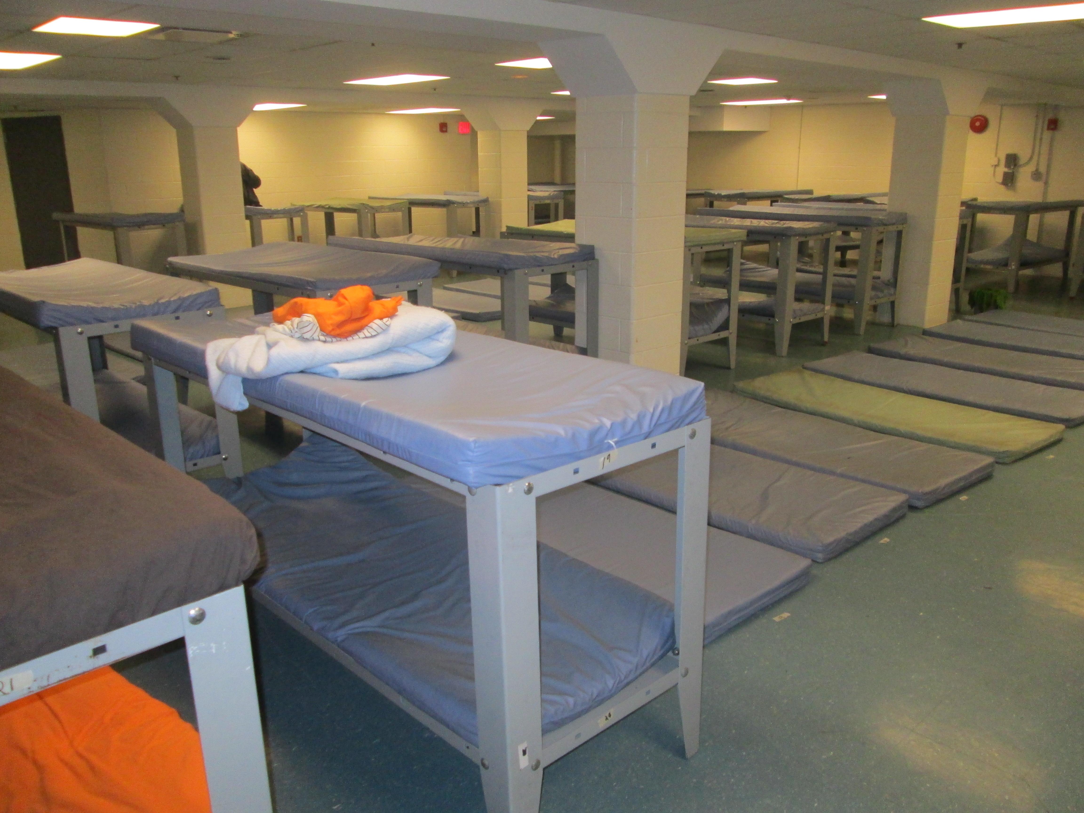7 p.m.: Men's Sleeping Area (Overnight Emergency Shelter)